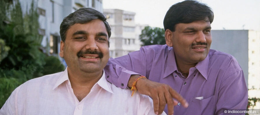 Harshad Mehta with his brother Ashwin Mehta